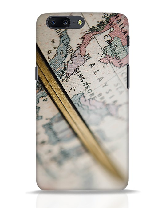 Shop Explore Map OnePlus 5 Mobile Cover-Front