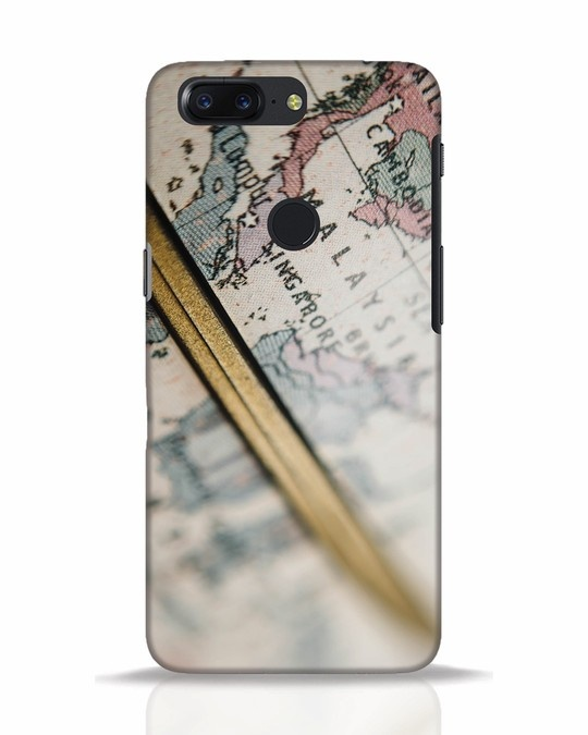 Shop Explore Map OnePlus 5T Mobile Cover-Front