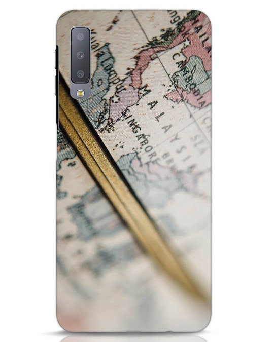Shop Explore Map Samsung Galaxy A7 Mobile Cover-Front