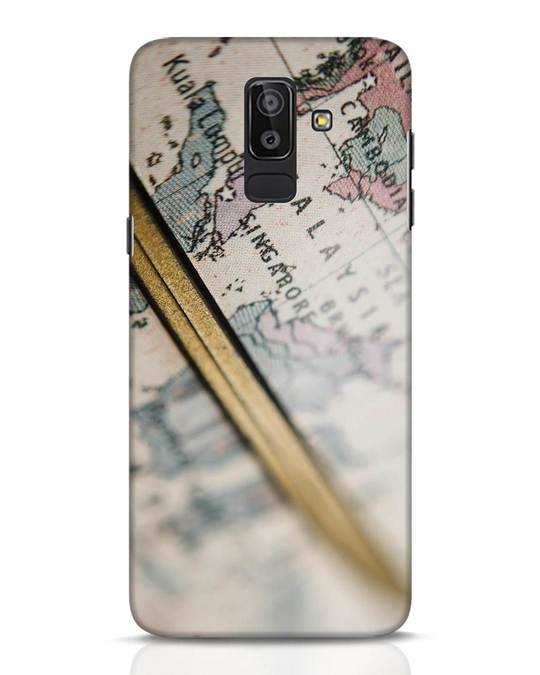 Shop Explore Map Samsung Galaxy J8 Mobile Cover-Front