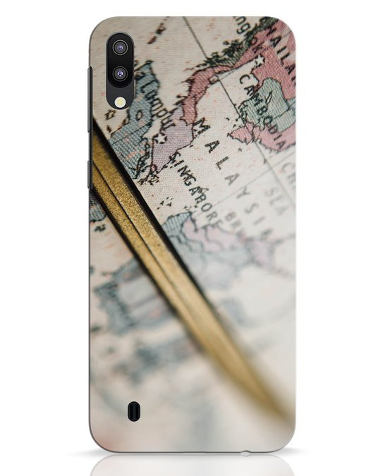 Shop Explore Map Samsung Galaxy M10 Mobile Cover-Front