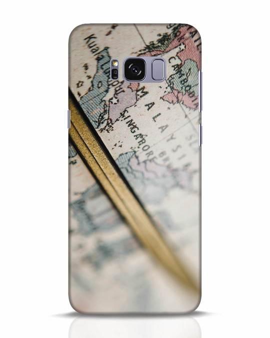 Shop Explore Map Samsung Galaxy S8 Plus Mobile Cover-Front