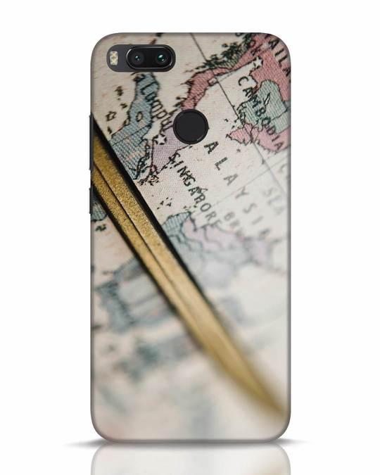 Shop Explore Map Xiaomi Mi A1 Mobile Cover-Front