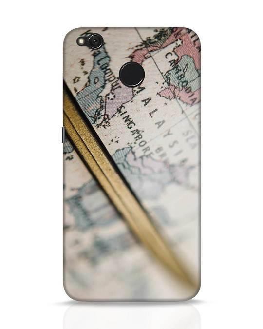 Shop Explore Map Xiaomi Redmi 4 Mobile Cover-Front