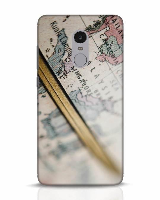 Shop Explore Map Xiaomi Redmi Note 4 Mobile Cover-Front