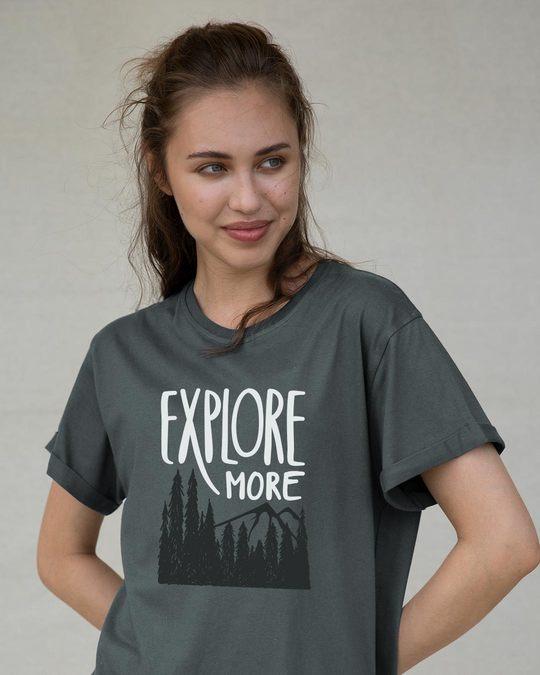 Shop Explore More Mountains Boyfriend T-Shirt-Front