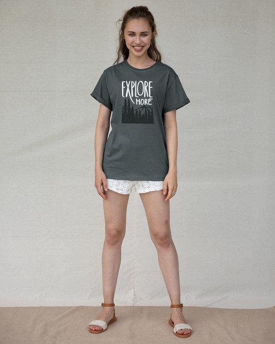 Shop Explore More Mountains Boyfriend T-Shirt-Design
