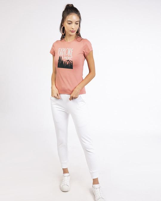 Shop Explore More Mountains Half Sleeve T-Shirt-Design