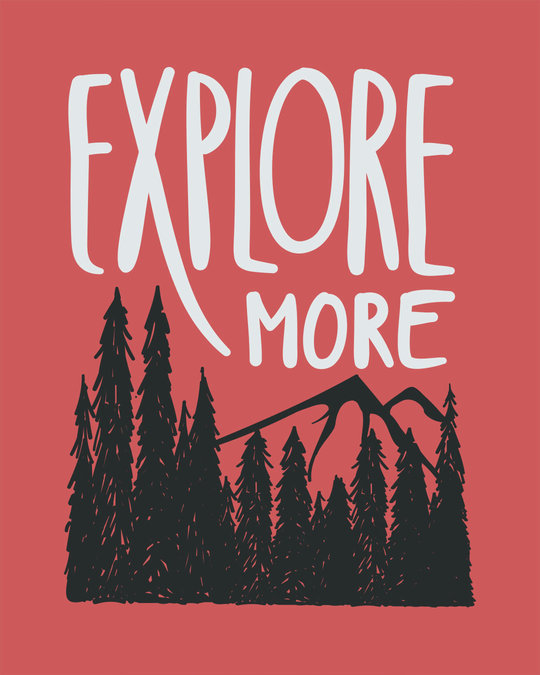Shop Explore More Mountains Round Neck 3/4th Sleeve T-Shirt