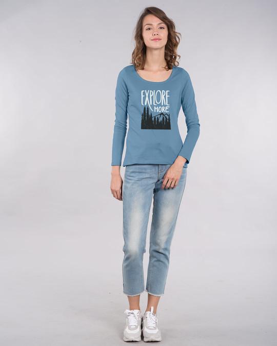 Shop Explore More Mountains Scoop Neck Full Sleeve T-Shirt-Design
