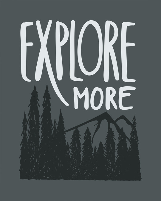 Shop Explore More Mountains Scoop Neck Full Sleeve T-Shirt-Full