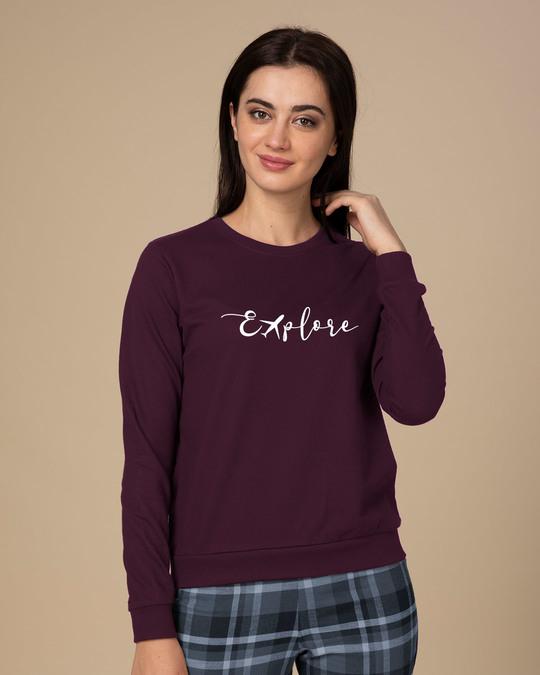 Shop Explore Plane Sweatshirt-Front