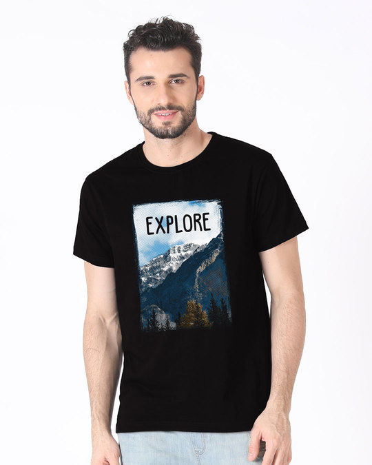 Shop Explore The Mountains Half Sleeve T-Shirt-Back