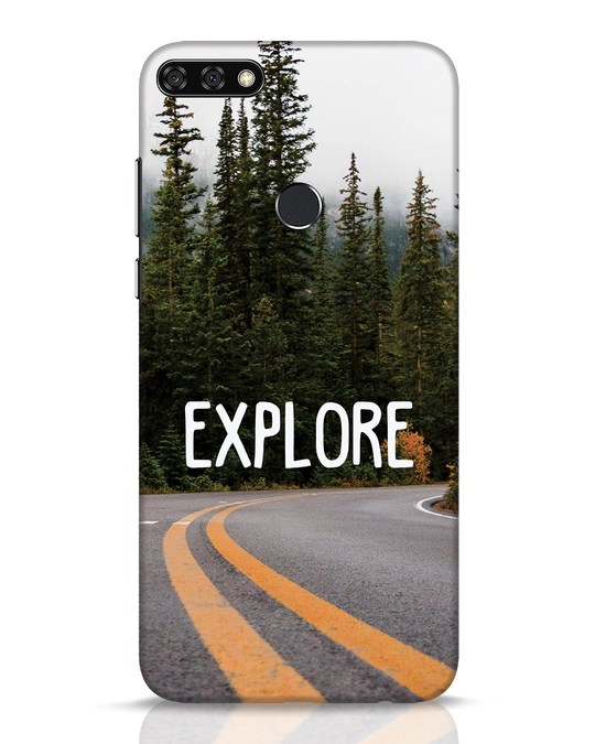 Shop Explore The Mountains Huawei Honor 7C Mobile Cover-Front
