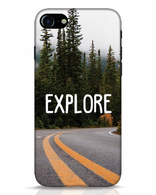 Shop Explore The Mountains iPhone 7 Mobile Cover-Front