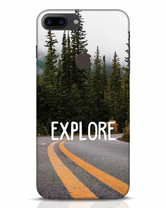 Shop Explore The Mountains iPhone 7 Plus Logo Cut Mobile Cover-Front