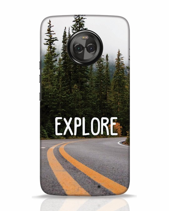 Shop Explore The Mountains Moto X4 Mobile Cover-Front
