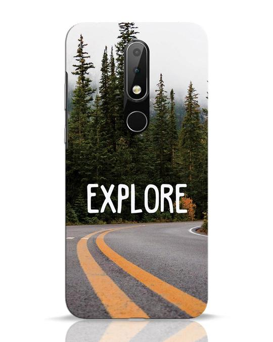 Shop Explore The Mountains Nokia 6.1 Plus Mobile Cover-Front