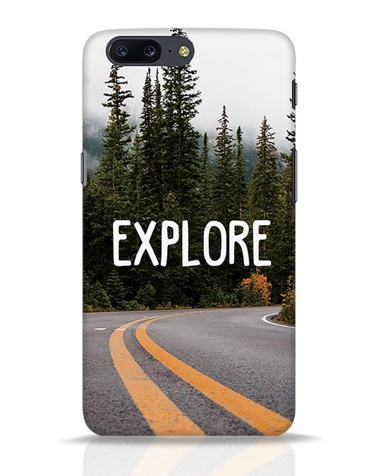 Shop Explore The Mountains OnePlus 5 Mobile Cover-Front