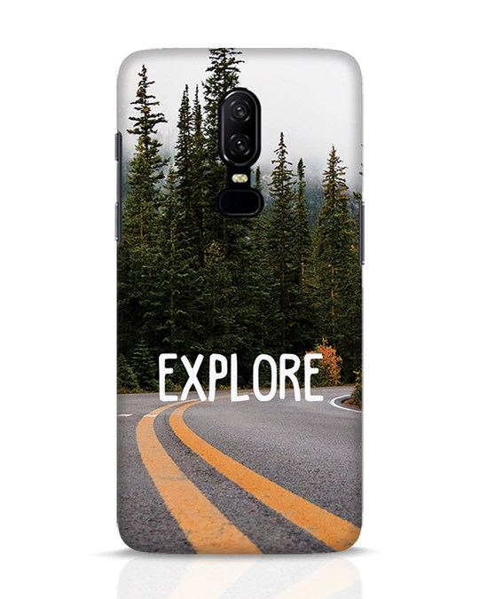 Shop Explore The Mountains OnePlus 6 Mobile Cover-Front