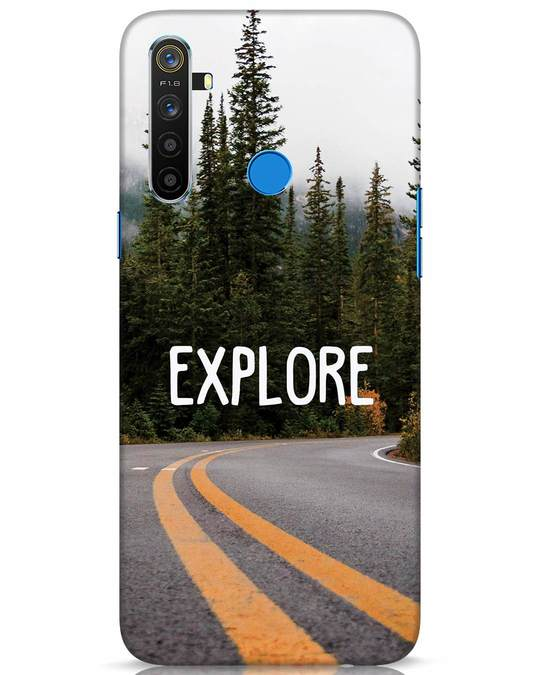 Shop Explore The Mountains Realme 5 Mobile Cover-Front