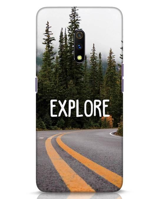 Shop Explore The Mountains Realme X Mobile Cover-Front