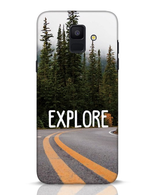 Shop Explore The Mountains Samsung Galaxy A6 2018 Mobile Cover-Front