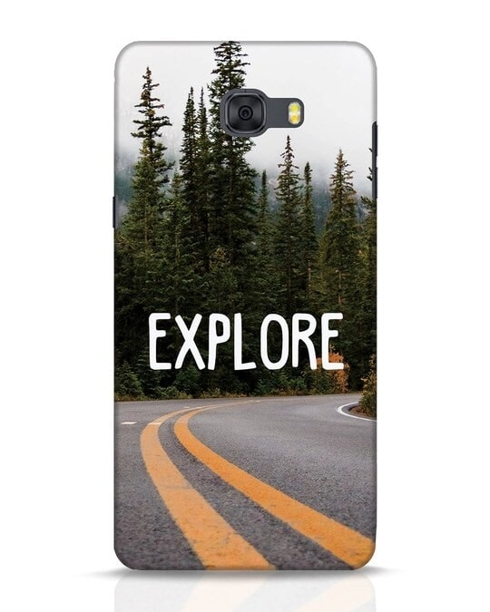 Shop Explore The Mountains Samsung Galaxy C9 Pro Mobile Cover-Front