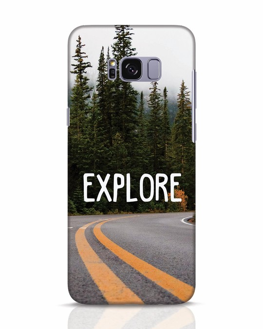 Shop Explore The Mountains Samsung Galaxy S8 Mobile Cover-Front