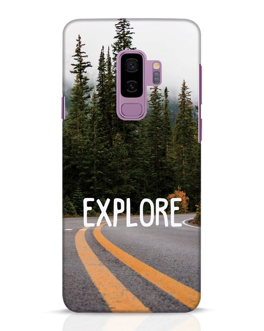 Shop Explore The Mountains Samsung Galaxy S9 Plus Mobile Cover-Front