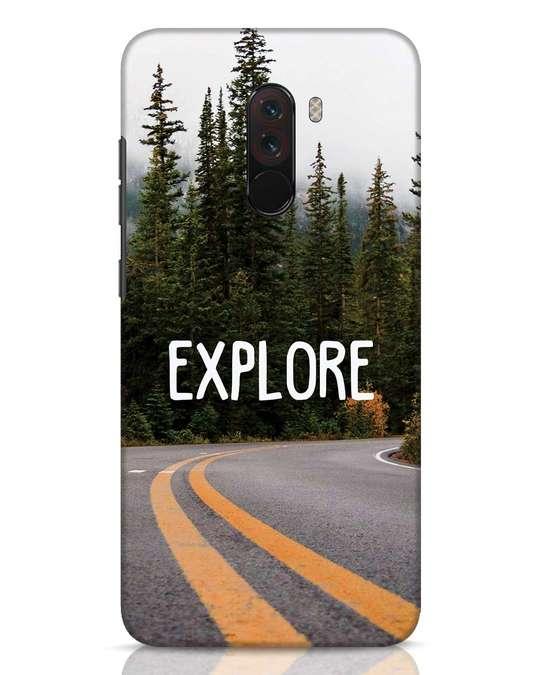 Shop Explore The Mountains Xiaomi POCO F1 Mobile Cover-Front