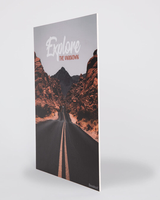 Shop Explore the Unknown Designer Wall Frame-Back
