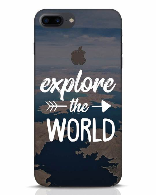 Shop Explore The World iPhone 7 Plus Logo Cut Mobile Cover-Front