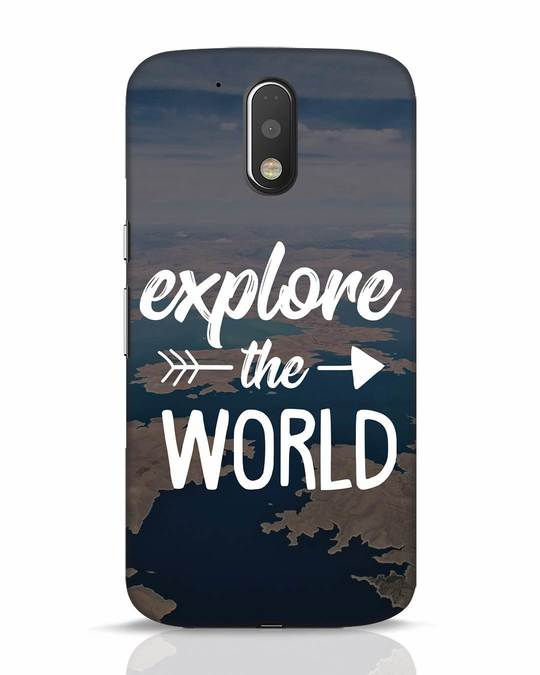 Shop Explore The World Moto G4 Plus Mobile Cover-Front
