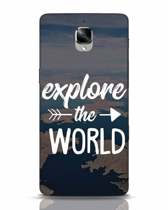 Shop Explore The World OnePlus 3 Mobile Cover-Front