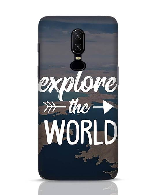 Shop Explore The World OnePlus 6 Mobile Cover-Front