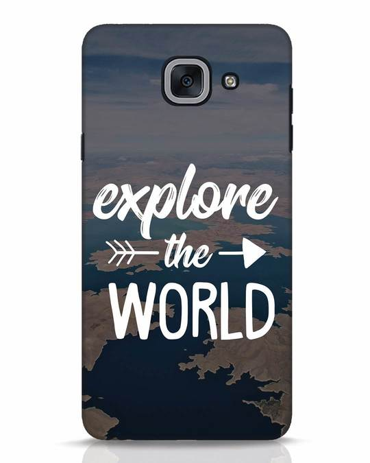 Shop Explore The World Samsung Galaxy J7 Max Mobile Cover-Front