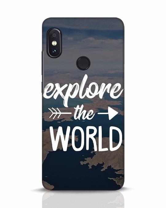 Shop Explore The World Xiaomi Redmi Note 5 Pro Mobile Cover-Front