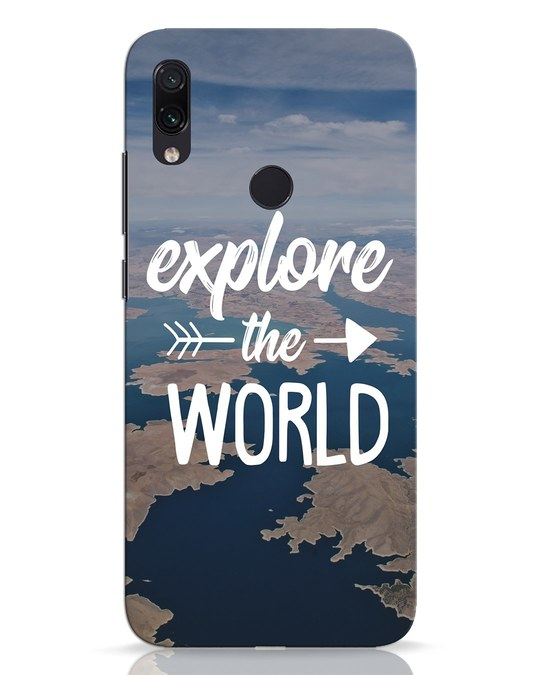 Shop Explore The World Xiaomi Redmi Note 7 Pro Mobile Cover-Front