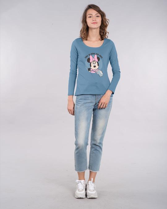 Shop Eye Roll Minnie Scoop Neck Full Sleeve T-Shirt (DL)-Design