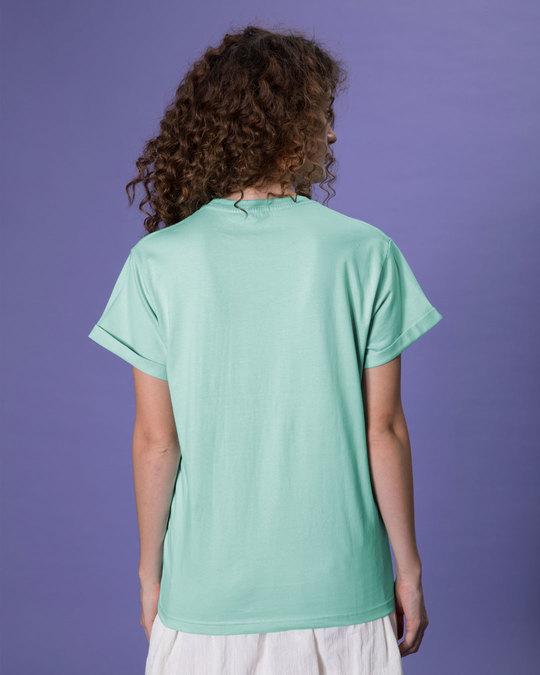 Shop Eyeliner Struggle Boyfriend T-Shirt-Back