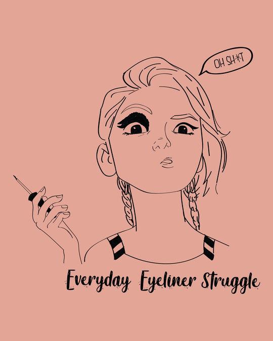 Shop Eyeliner Struggle Boyfriend T-Shirt