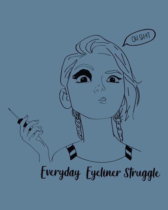 Shop Eyeliner Struggle Boyfriend T-Shirt-Full