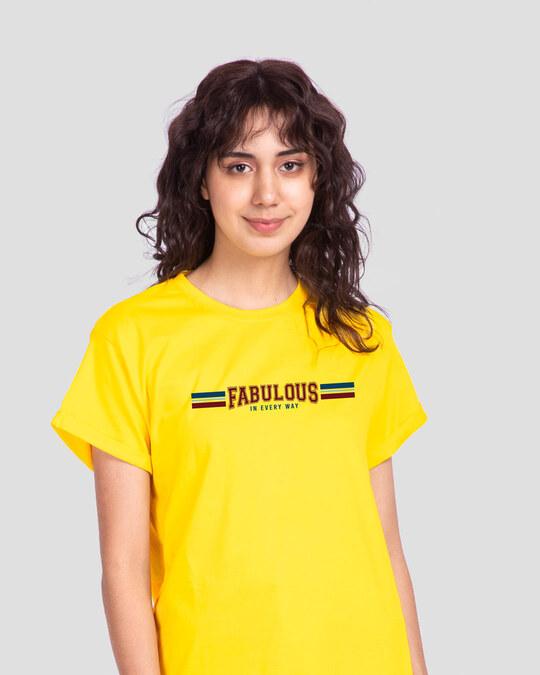 Shop Fab In Every Way Boyfriend T-Shirt-Front