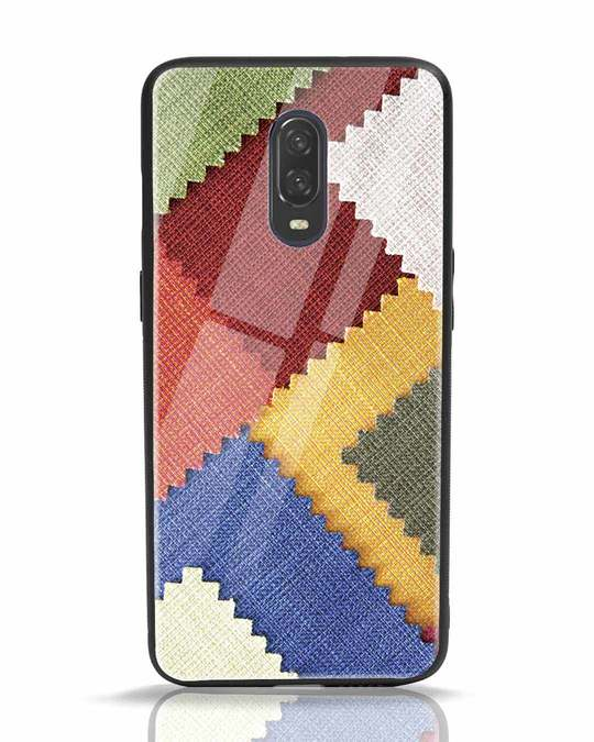 Shop Fabric Feels OnePlus 6T Glass Mobile Cover-Front