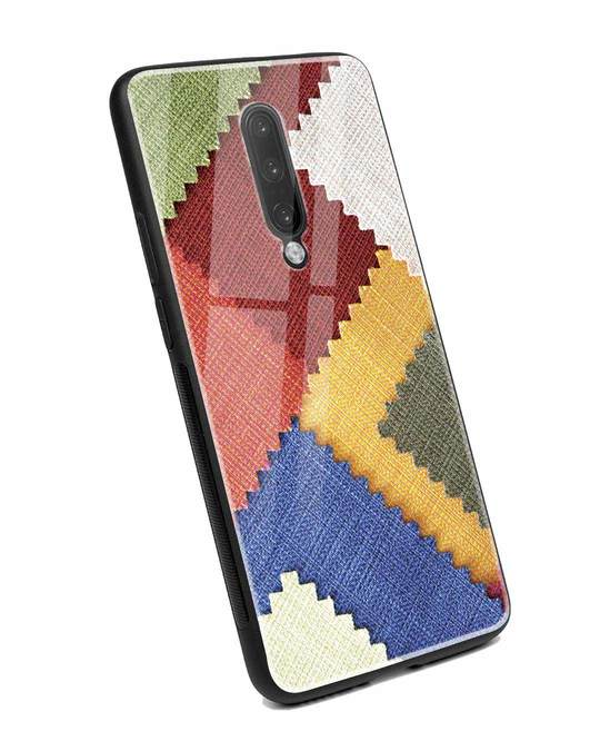 Shop Fabric Feels OnePlus 7 Pro Glass Mobile Cover-Back