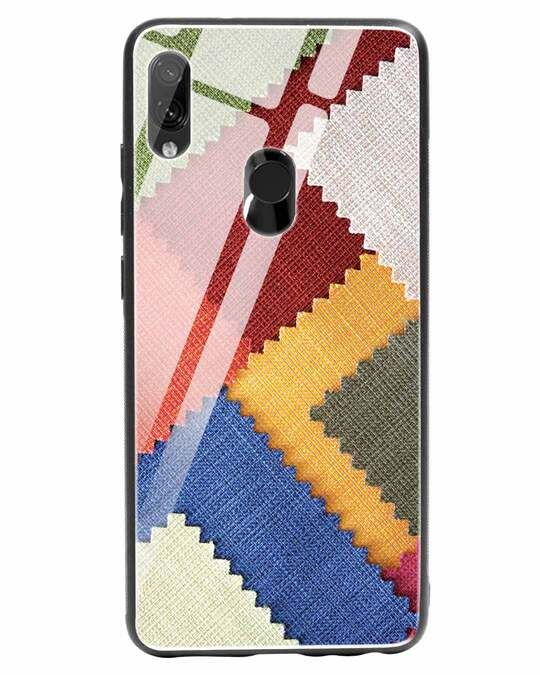 Shop Fabric Feels Xiaomi Redmi Note 7 Glass Mobile Cover-Front