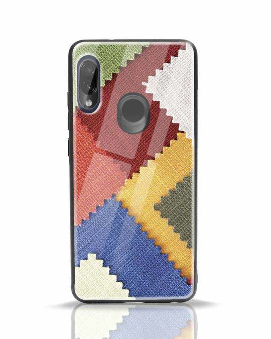 Shop Fabric Feels Xiaomi Redmi Note 7 Pro Glass Mobile Cover-Front