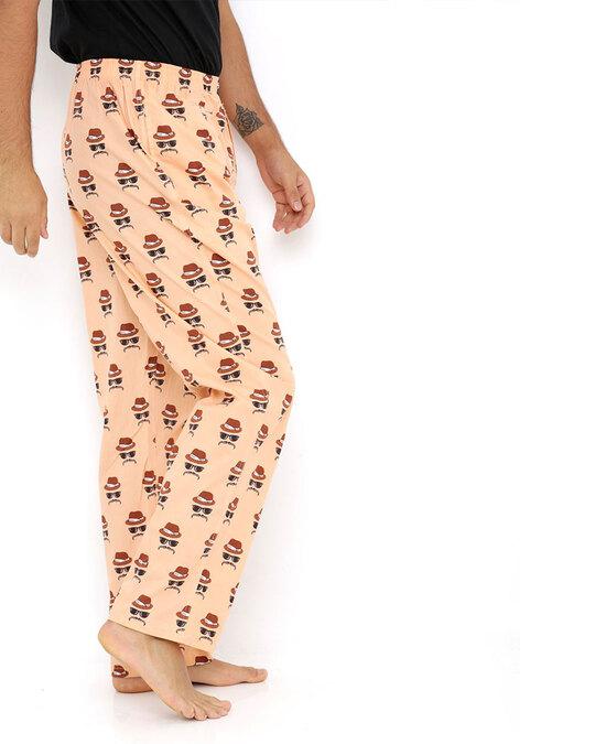 Shop Smugglerz Faces Orange Pyjamas-Back