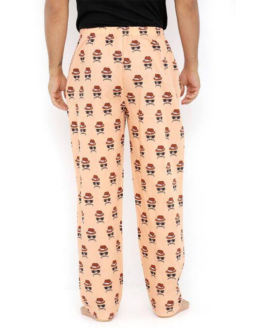 Shop Smugglerz Faces Orange Pyjamas-Design